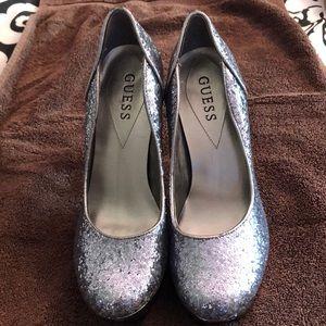 Guess Heels Silver